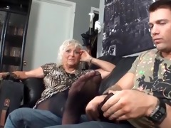 my stepmom st footjob