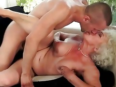 nasty breasty grandma enjoys sexy sex