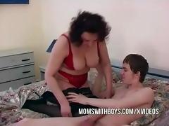indecent mama lure youthful lad into sofa