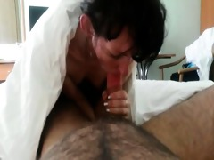 russian wife drilled hard and creampie at the end