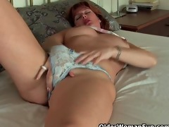 aged redheaded mother i has solo sex with her sex