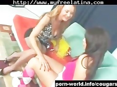 cougar seduces cute young latin chick lalin girl
