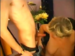 large marvelous woman granny teacher copulates