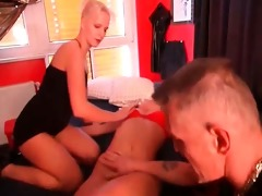 very sexy golden-haired bitch and her wicked and