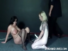 enslaved lesbo toying and gals sextoy sex of