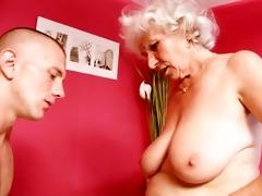 older granny betty bonks young rod