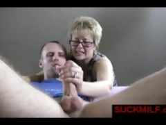 golden-haired mother i help chap with orgasm