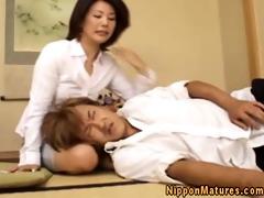 japanese oriental older giving fellatio