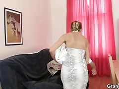 aged masseuse sucks and rides juvenile meat