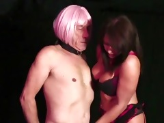 breasty domina fucks her sexdoll then he is eats