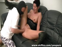 lascivious non-professional milf fist drilled by