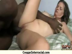 cougar with big mangos seduces youthful dark guy