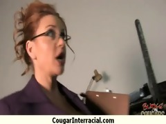 cougar with big bazookas seduces young darksome