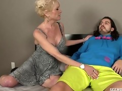 aged wench sucks a youthful boys boner