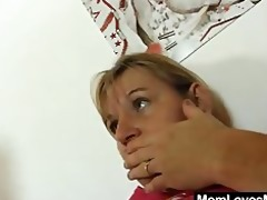 mamas tantalise belt on fake pounder