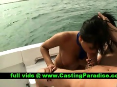 priya rai breasty dark brown fucking on a boat