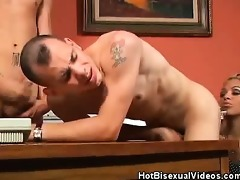 sexy bisexuals fucking a breasty latin chick