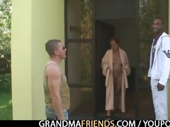 nasty granny takes cocks at one time