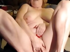 housewife on web camera