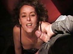 hawt wife sucks off 01 dudes at the swingers club