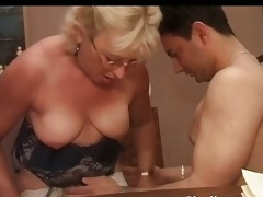old doxy got doggy drilled by threesome sexually