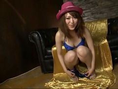 breathtaking and lewd oriental playgirl playing