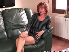aged and redheaded d like to fuck rubs her wanton