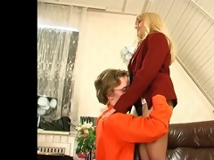 chaps for matures - alana copulates in the office