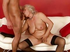 lewd lad fucking breasty grandma