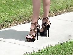 high heel foot tease