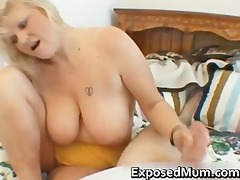wicked mamma shows her juggs and sucks shlong