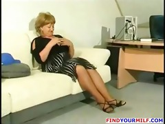 corpulent older cougar receive horny