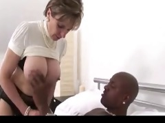 british lady in nylons takes darksome cock.