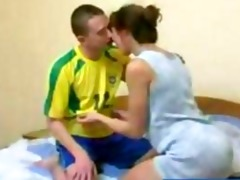redhead russian aged mother receives drilled by