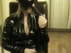 masked wife fake penis play