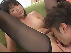 chick saki aoyama asian angel giving oral-sex and