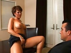 astonishing breasty dark brown milf getting her