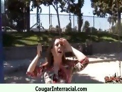 wild cougar d like to fuck receives group-fucked