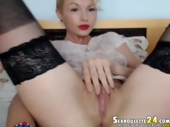 phenomenal red georgette in live sex clip do