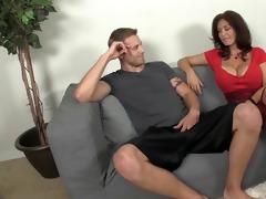 sexy milf sucks a juvenile fellows boner