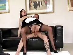 nylons non-professional older chick