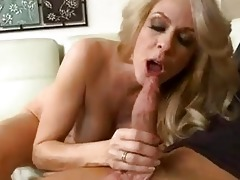 enormous chested blond d like to fuck takes giant