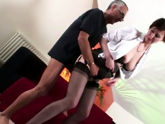 nylons wearing british mother i pounded