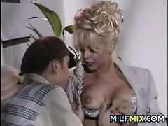 blond mother i acquires three-some wang