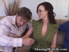 obscene piggy hubby watches wife