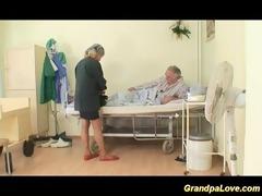 older man hottie fucking a fine dark brown nurse