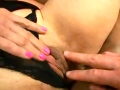 aged violet jones given a facial cum-stain