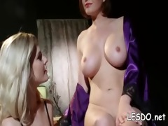 milf lesbos take up with the tongue & sex