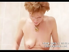 perverted grandma peeing and shaving