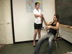 torment handjob in the classroom